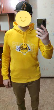 Кофта Худи Свитшот NBA LAKERS НБА Лейкерс желтый