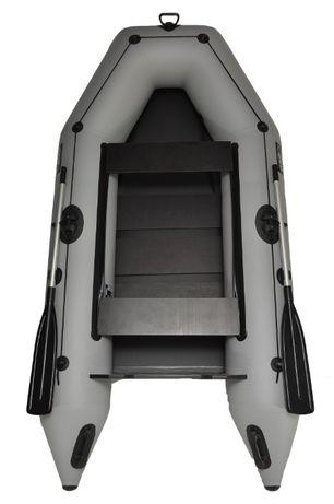 Лодка пвх надувная двухместная под мотор Grif boat GM-280 светлая