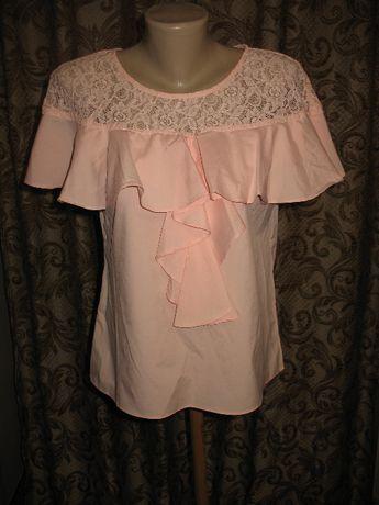 Блузка кофточка под джинсы в стиле романтик цвет беж фирма SH