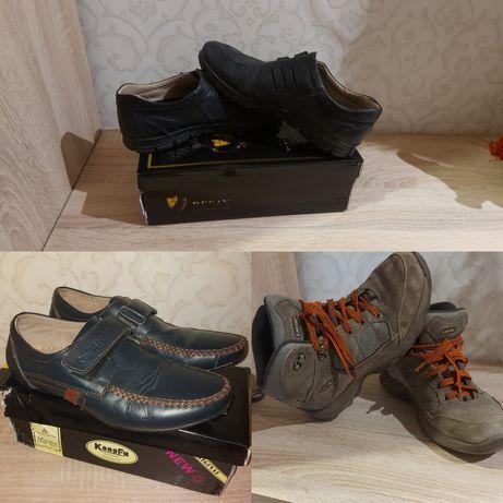 Туфли на липучке ботинки кожа 38