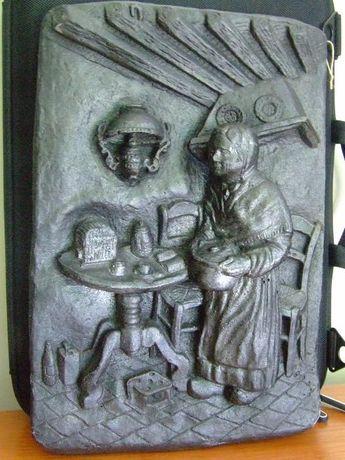 Płaskorzeźba odlew gipsowy - obraz 3D rzeźba