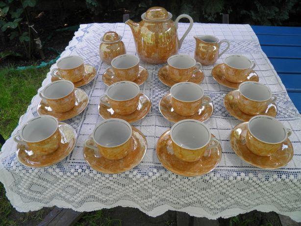 serwis komplet do kawy 12 osobowy karolina porcelana