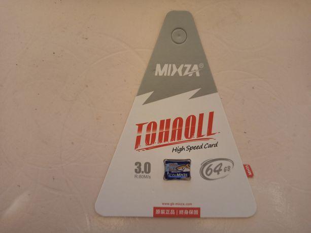 Карта пам'яті mixza micro sd 64gb