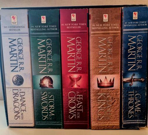 5 książek Gry o Tron w języku angielskim/ A Game of Thrones series