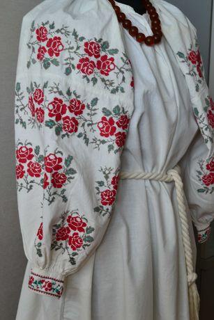 Старинная сорочка вышиванка, вишиванка старовинна
