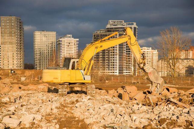 Rozbiórki budynków, hal, wyburzanie ścian, wykopy, transport, kruszywa