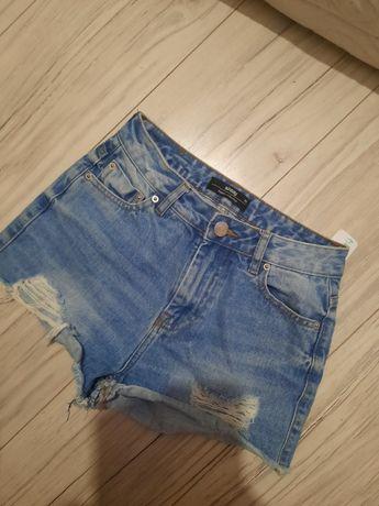 Spodenki szorty jeans 34 xs sinsay bershka