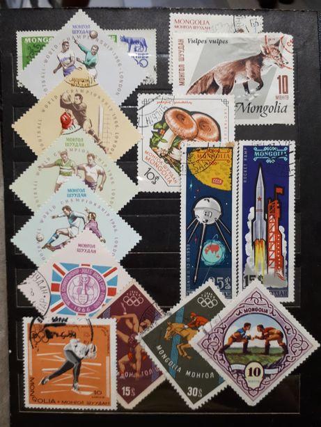 Коллекция марок Чехословакии Монголии Польши СССР и др.