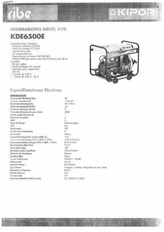 Gerador diesel AVR KDE6500E