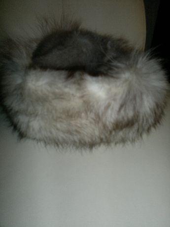 czapka toczek z lisa