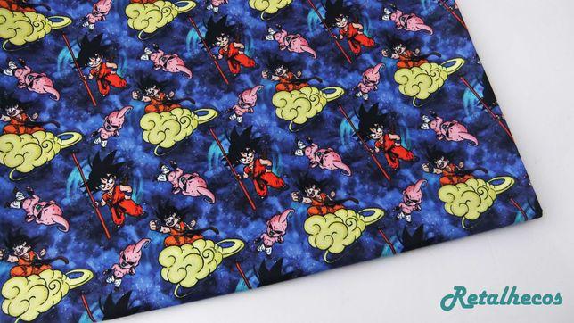 Retalhos Pokemons e Dragon Ball 100% algodão