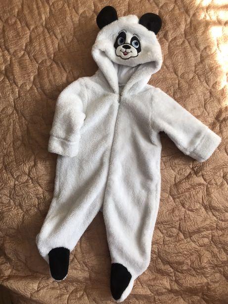 Теплий  чоловічок панда 62-68 розміру
