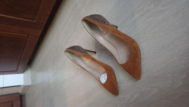Buty na obcasie szpilki skóra rozmiar 38
