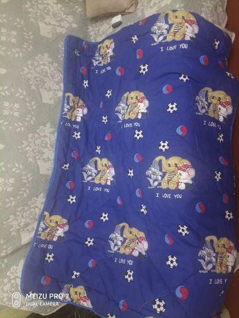 Детское одеяло зимнее на овчине