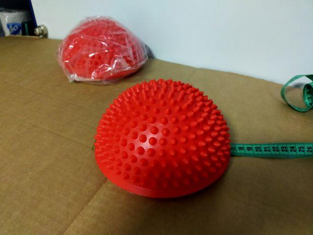 Балансировочная подушка воздушная полусфера с шипами