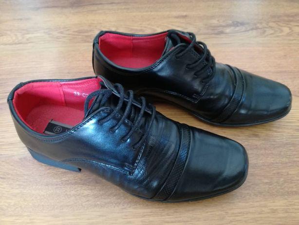 Buty komunijne chłopięce, czarne, rozmiar 33, marka Vapiano