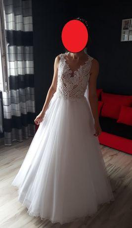 Śliczna suknia ślubna 36/38 - kształt litera A