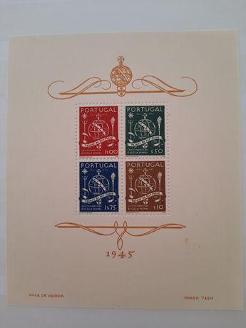 Selos Portugal, Bloco 9 MNH, 1945 Centenário Escola Naval
