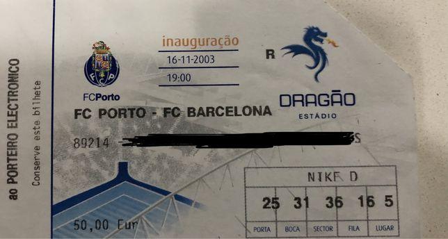 Bilhetes inaguração Estadio do Dragão-Estreia do  Messi