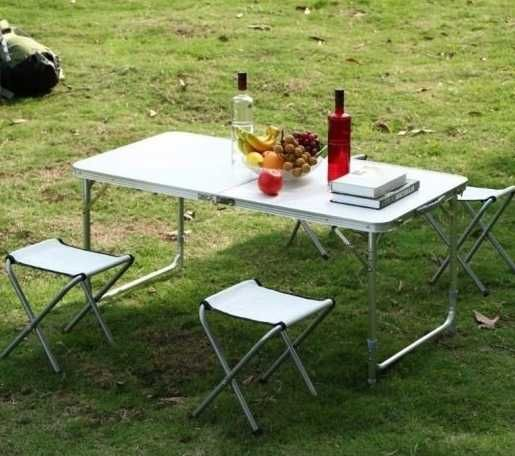 Раскладной стол для пикника кемпинга со стульями чемодан