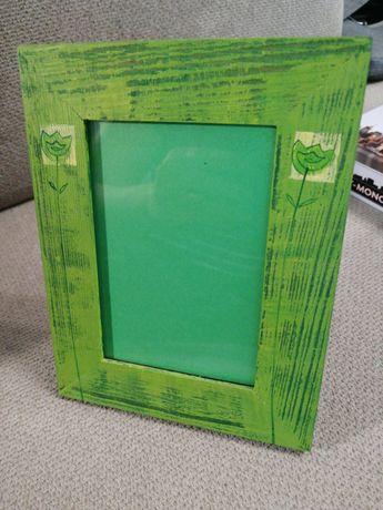 Zielona ramka na zdjęcie 9x13