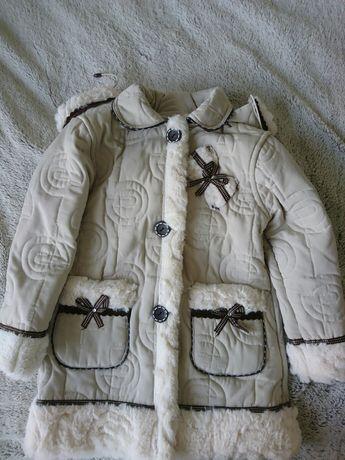 Kożuszek dla dziewczynek 116-122