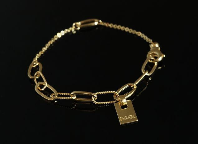 Złoto 585 - NOWA złota Bransoletka z zawieszką