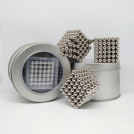 """NeoCube неокуб """"серебро"""" 216 магнитных шариков 5 мм конструктор"""
