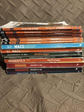Livros escolares 10° e 11° anos