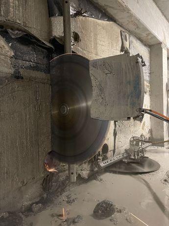 Wiercenie w betonie cięcie betonu kucie Brokk husqvarna dxr hilti
