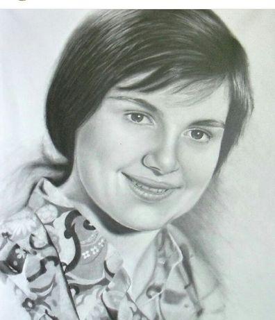 Портреты карандашом 40х50—450грн.