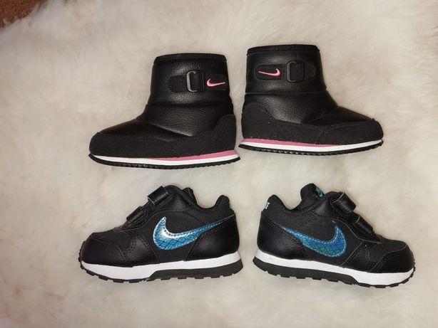 Adidasy i kozaczki Nike rozm. 21 wkł. 11 jak nowe