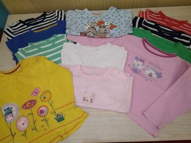 Bluzeczki z długim rękawem i inne, rozmiar 86-92