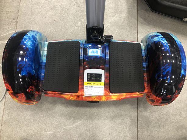 Сигвей гироборд гироскутер с ручкой А8 smart balance 10.5 огонь и лед