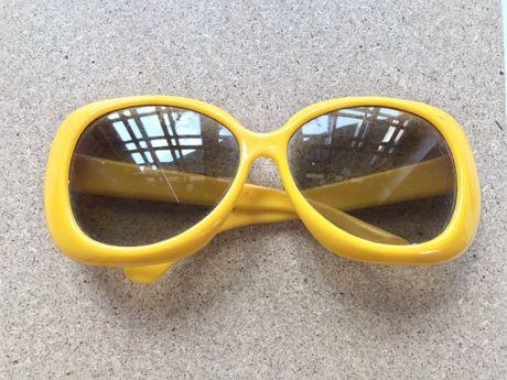 Żółte modne okulary TANIO