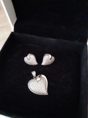 Komplet srebro cyrkonie 925
