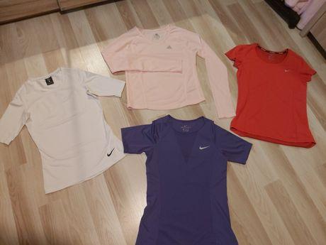Bluzki damskie Nike Dri Fit i Adidas