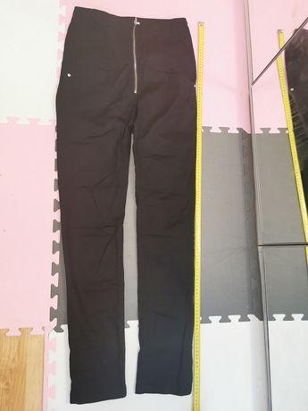 Spodnie czarne rueki z podwyższonym stanem 38 (M)