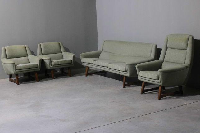 Conjunto da década de 1960 sofá + poltronas