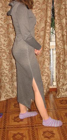 платье весеннее с капюшоном размер 42
