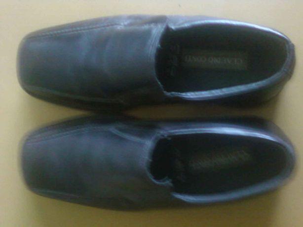 Новые кожаные черные туфли. Производитель Claudio Conti .Размер 44