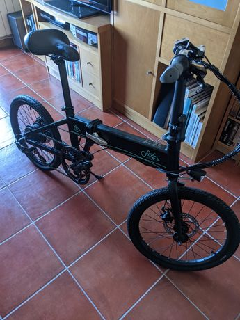 Bicicleta Elétrica Dobrável FIIDO D4S 20'' cor Preto nova na embalagem