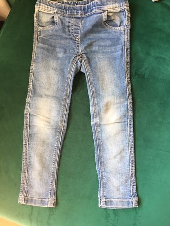 Jegginsy spodnie rurki 104