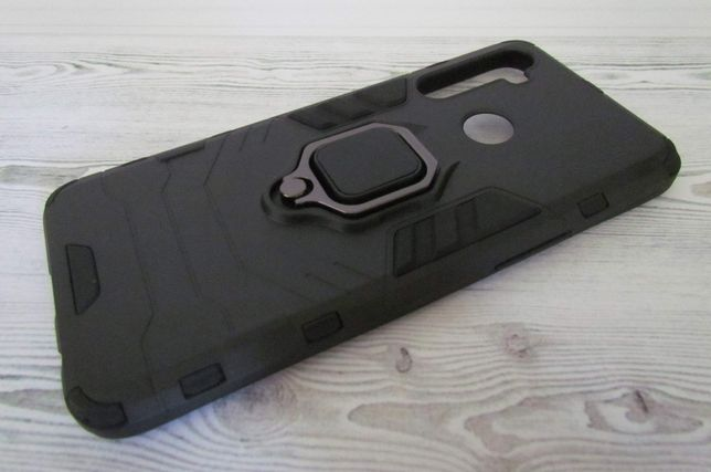 Чехол для Realme 5 противоударный с магнитным кольцом-подставкой