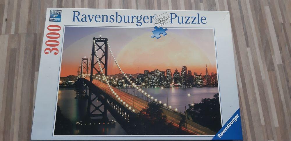 Ravensburger Puzzle 3000 San Francisco bei Nacht Janowiec Wielkopolski - image 1