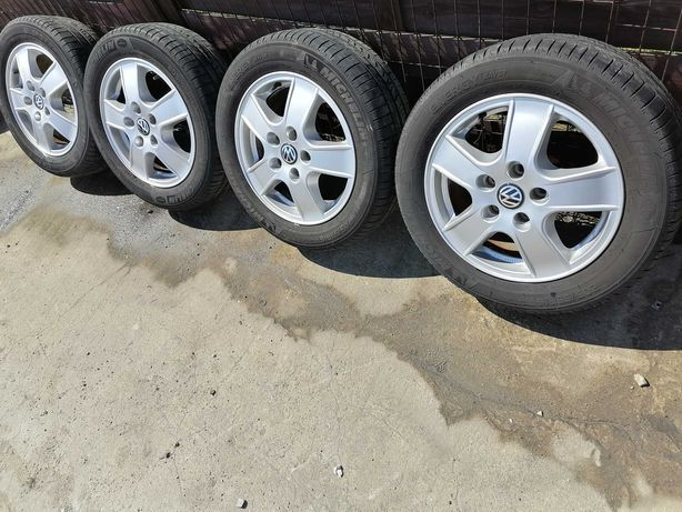 Alu Felga Felgi 16'' 5x112 Opony Lato Komplet VW Golf Touran Passat