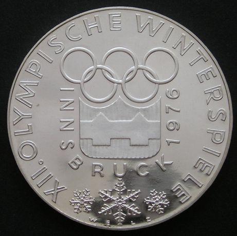 moneta Austria 100 schilling 1976 - Innsbruck Olimpiada - srebro - s12