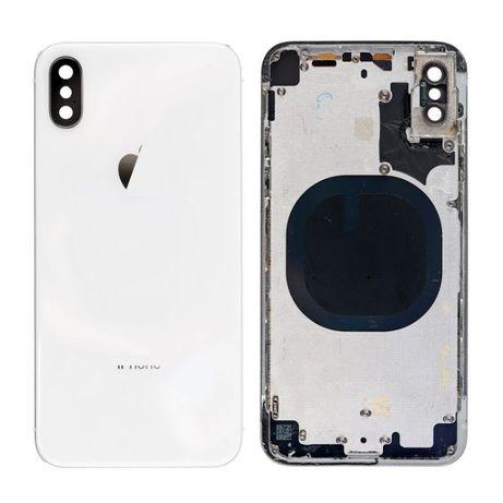 iPhone X Carcaça com Tampa Branca Silver