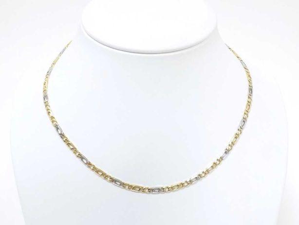 Piękny Złoty Łańcuszek Z Białym Złotem Pr.585/ 16,33G / 44cm