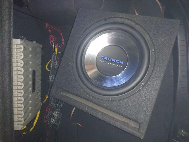 Car audio skrzynia crunch wzmacniacz axton polecam